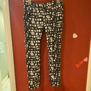 Free people spotted black and white pants